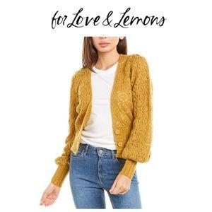 NEW! For Love & Lemons cardigan. Size S